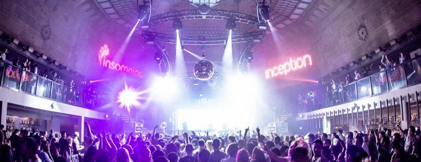 Dance floor / stage @ Exchange LA Nightclub
