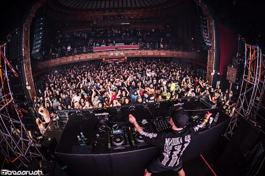 EDM concert at belasco theater, Los Angeles, CA
