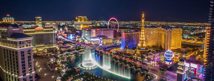 Beautiful overview of the Las Vegas Strip