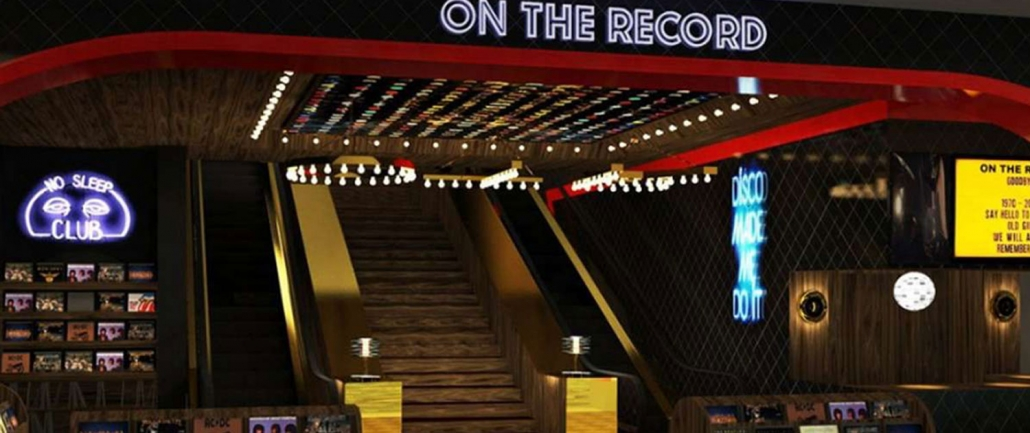 Front Entrance of On The Record at Park MGM Las Vegas
