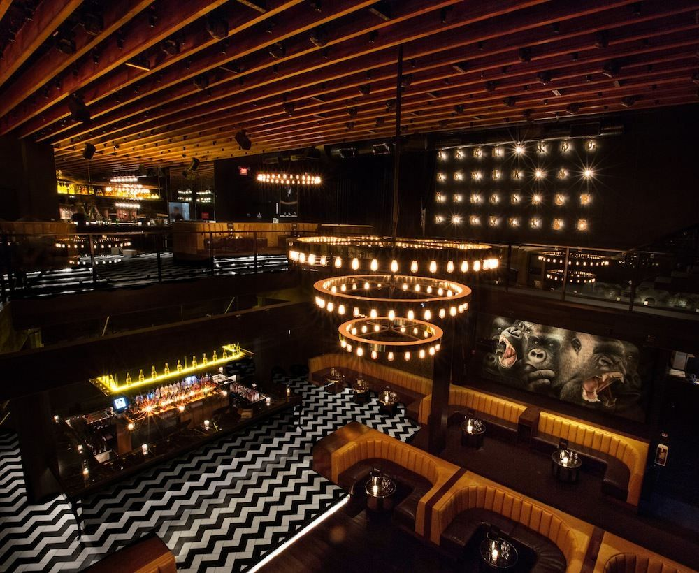 Inside view of 1 OAK - an exclusive night club in LA