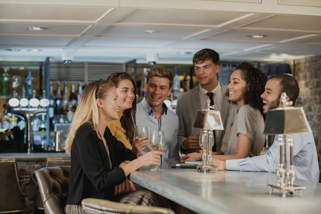 Businesspeople Enjoying Drinks