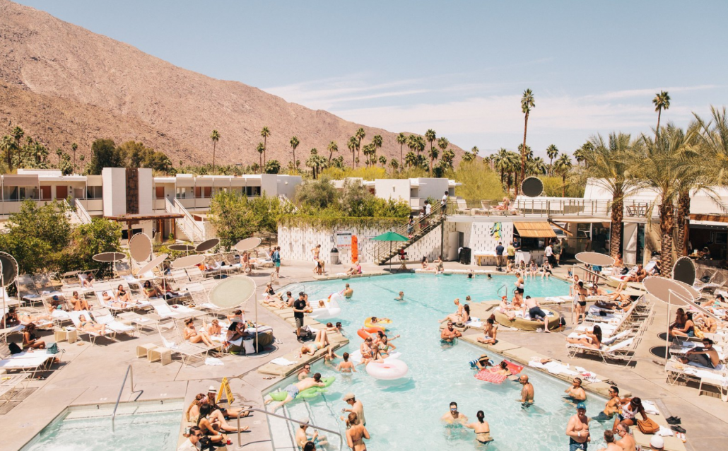 Spacious view of Palm Springs Ace Hotel