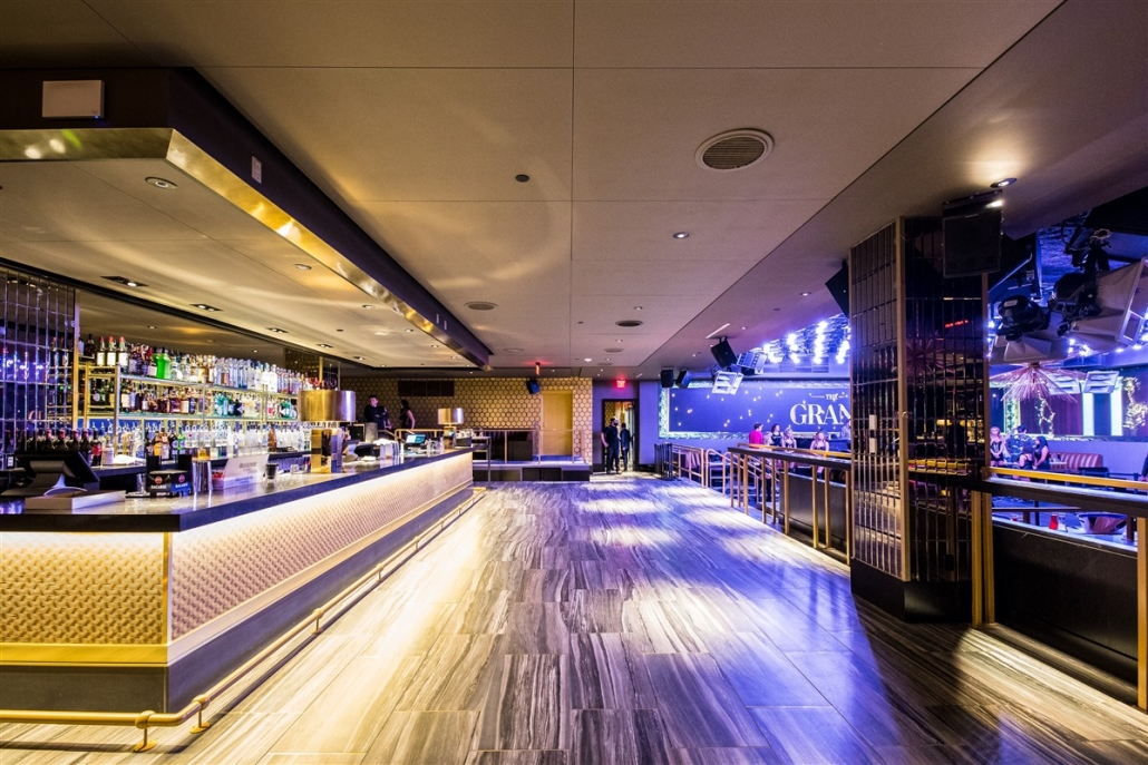 Dance floor and bar view at The Grand Boston