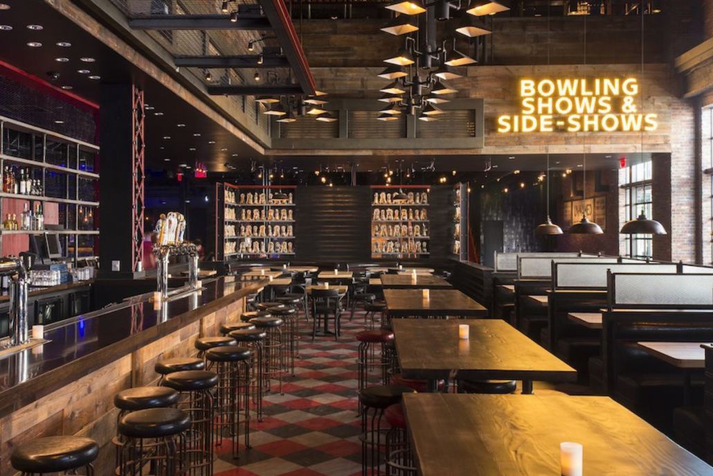 bar area at Brooklyn Bowl Las Vegas