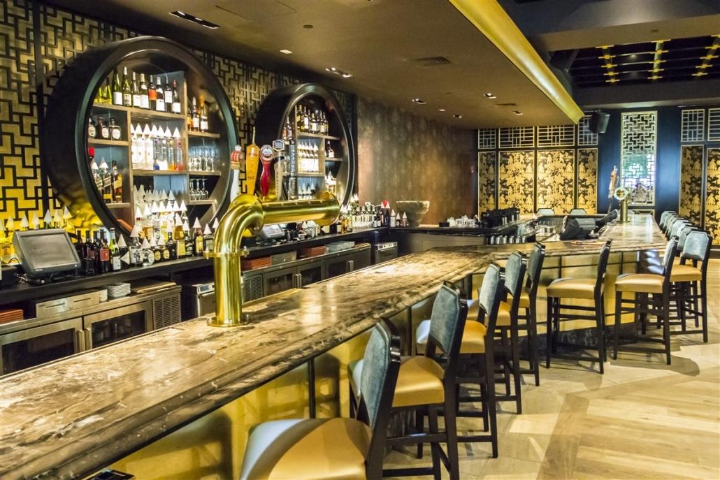 Bar area at Empire Boston
