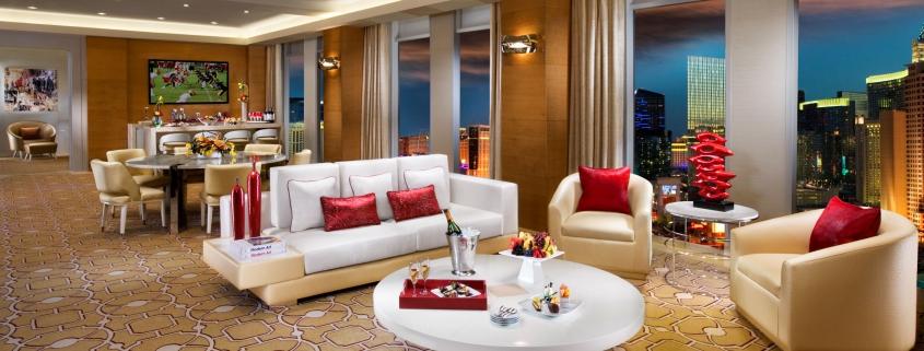 luxury hotel suite interior Las Vegas