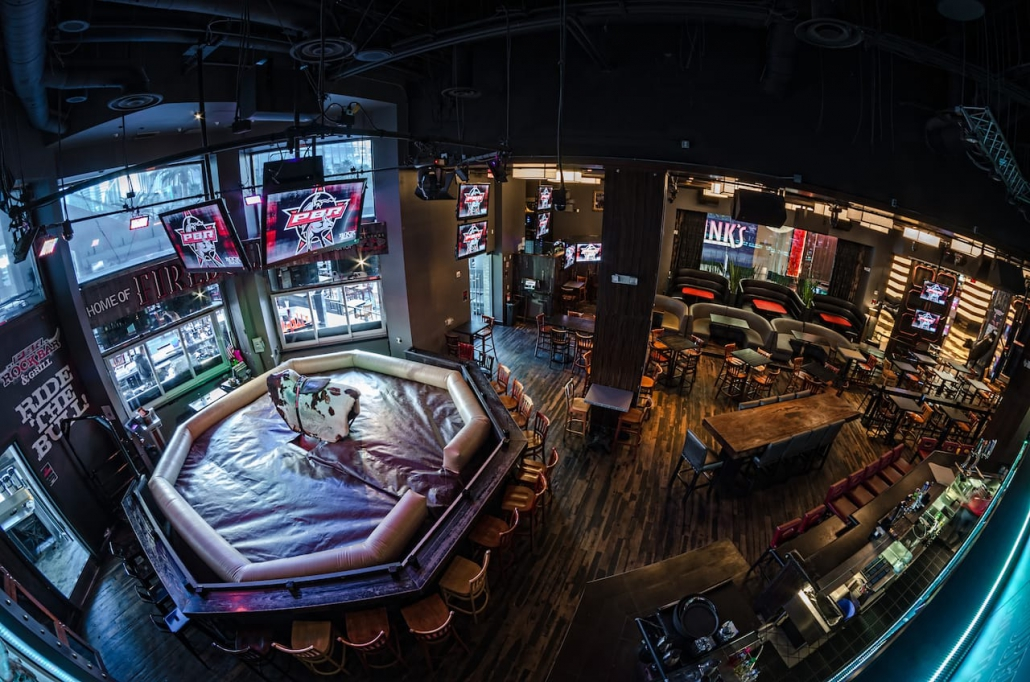 Inside of PBR Rock Bar with mechanical bull