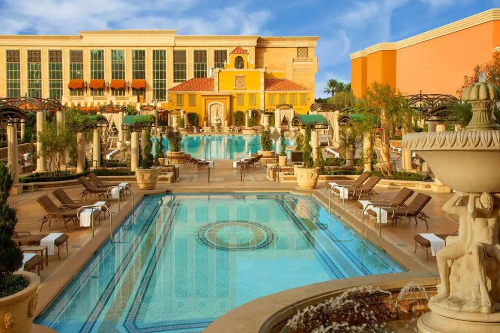 Venetian Las Vegas pool deck in summer