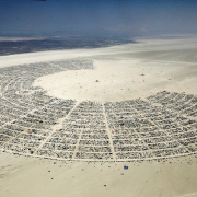 burning man aerial view blackrock city