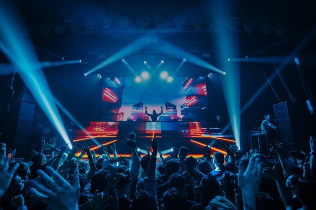Dance floor and DJ at Big Night Live Boston