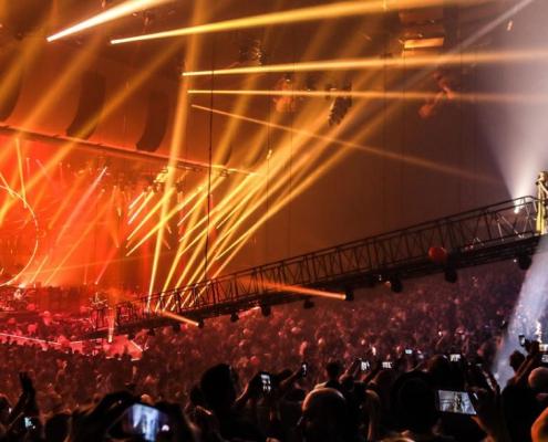 Evening concert in Las Vegas, Nevada