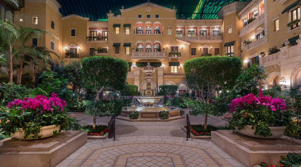 Outdoor courtyard entrance, The Mansion, MGM Grand Las Vegas