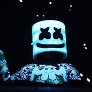DJ marshmello performing