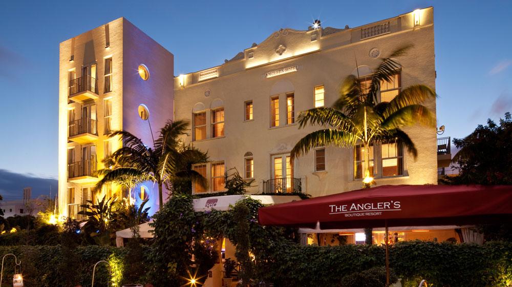 front of Kimpton Angler's Hotel, Miami Beach