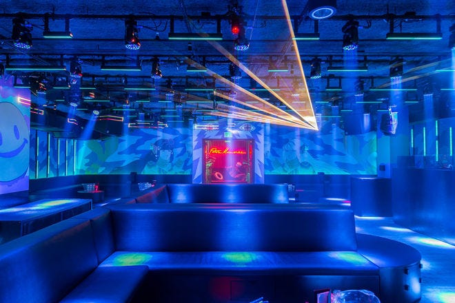 Dance floor of Basement NIghtclub Miami