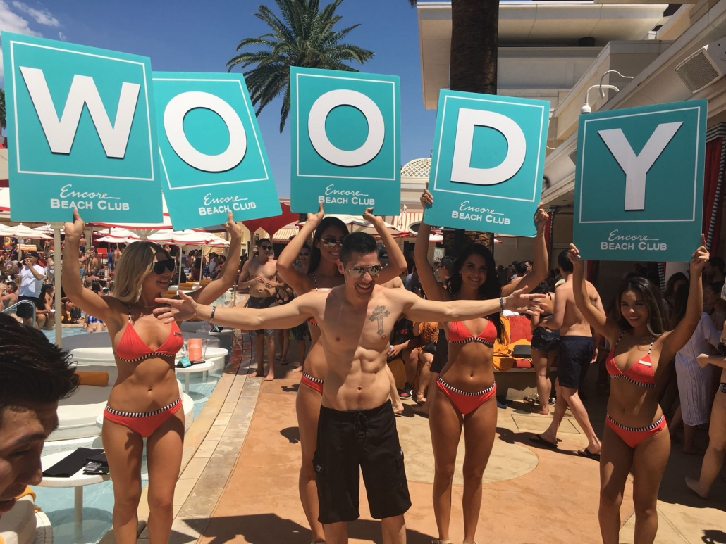 bachelor party at Encore Beach Club, Las Vegas, NV
