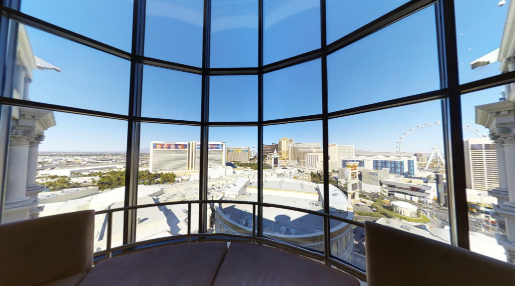 view of Las Vegas Strip from Caesars' Palace Forum Tower Duplex Suite - Las V