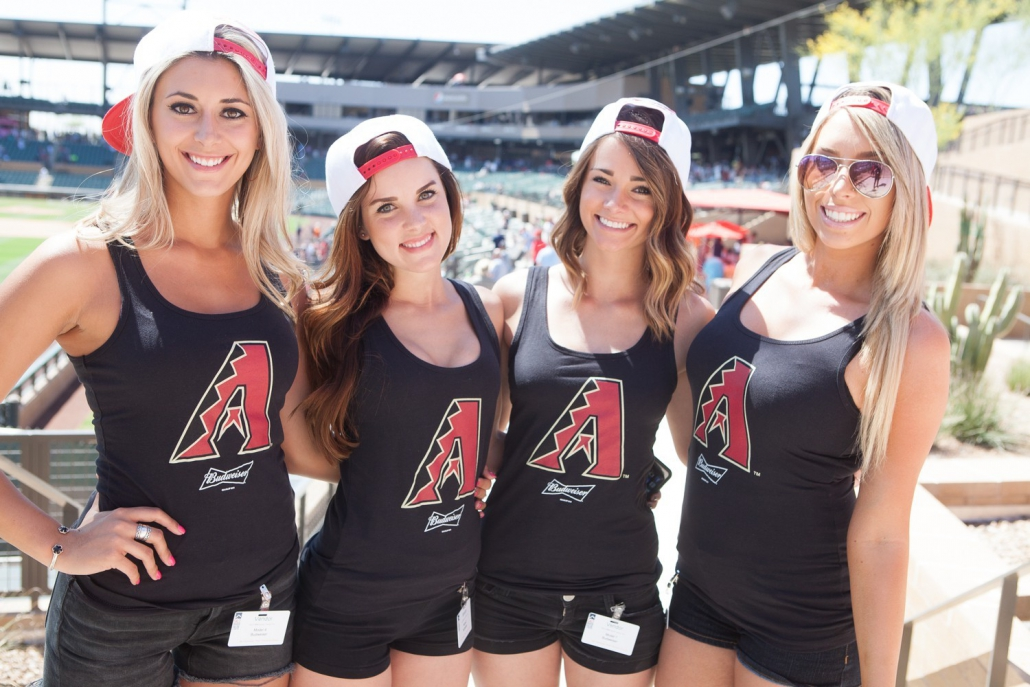 girls at MLB Spring Training, Scottsdale, AZ