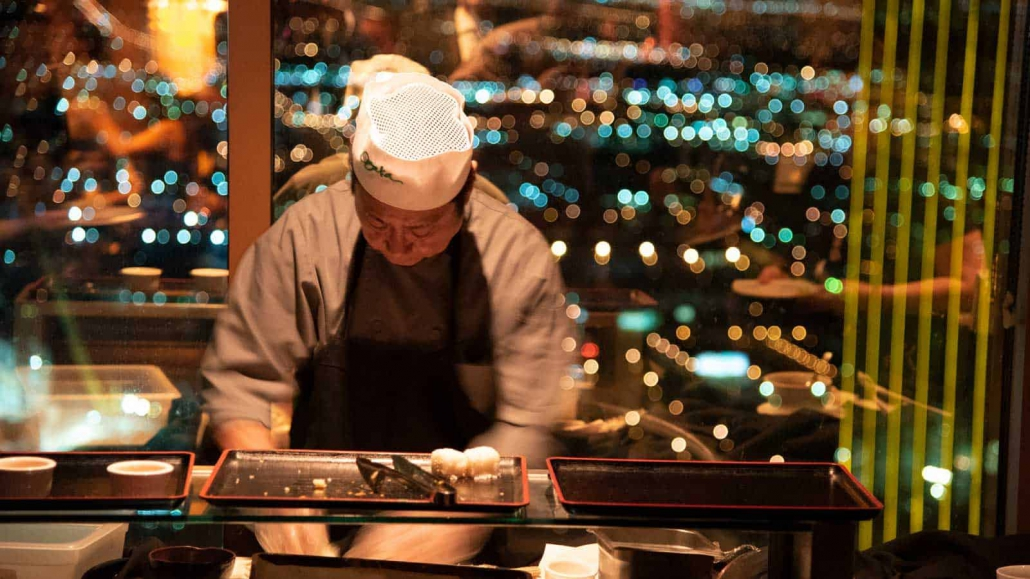 Private sushi chef for 2018 VMware  party @ Mandalay Bay, Las Vegas, Nevada