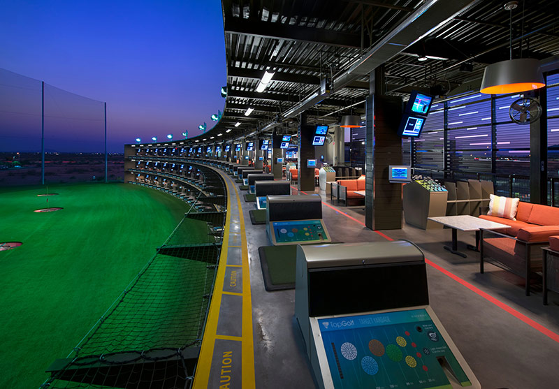Topgolf at sunset, Phoenix, AZ