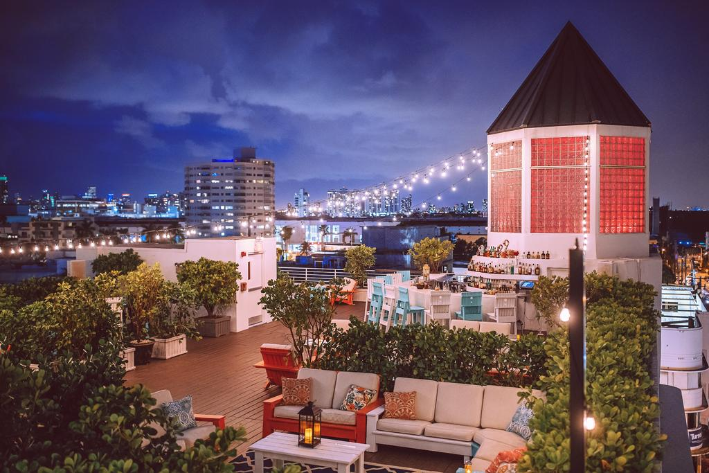 Patio Deck of Townhouse Hotel Miami