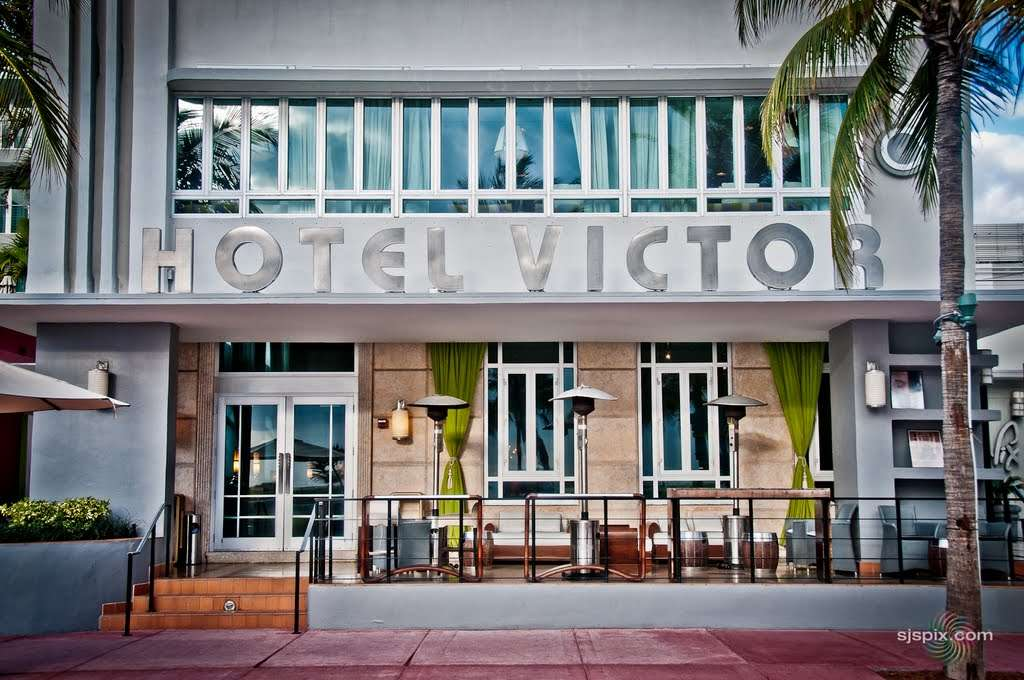 Entrance to Hotel Victor, Miami Beach