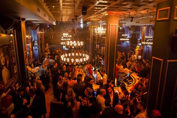 Blue Martini party dance floor in Miami