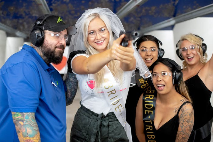 Bachelorette party at 702 Range - Las Vegas, Nevada