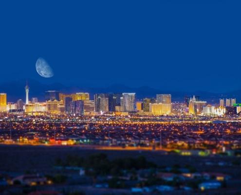 Las Vegas Strip Skyline at Night - Las Vegas, Nevada