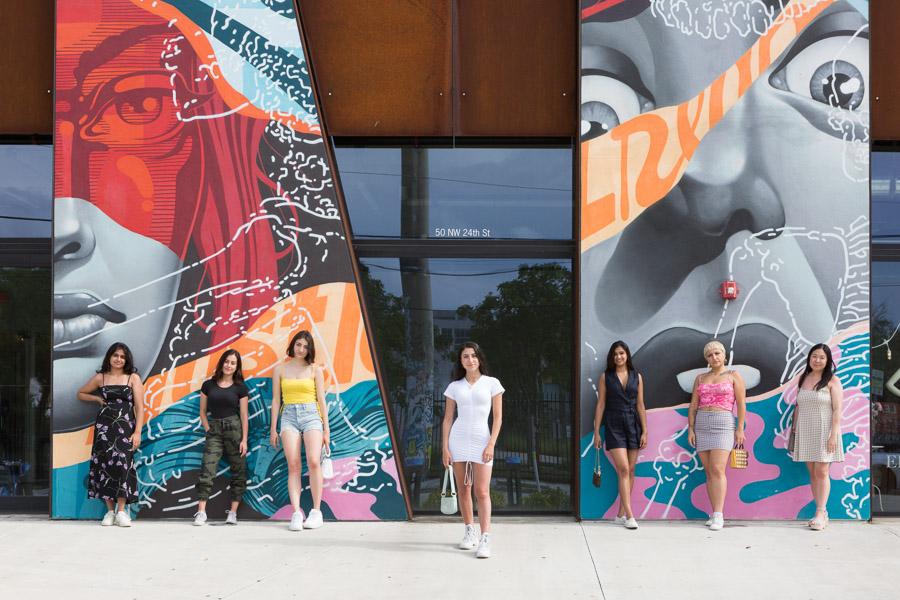 bachelorette party at Wynwood Art Walk, Miami, Florida