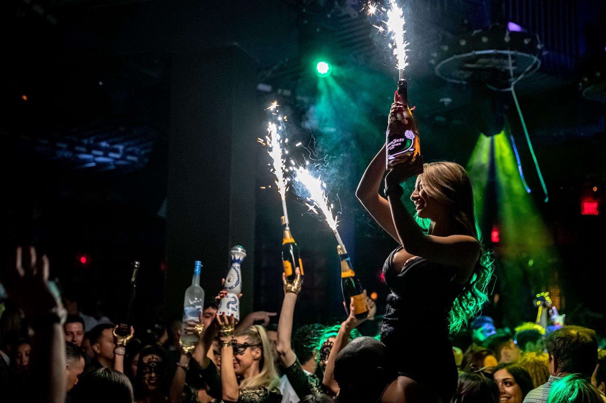 bottle service at marquee nightclub