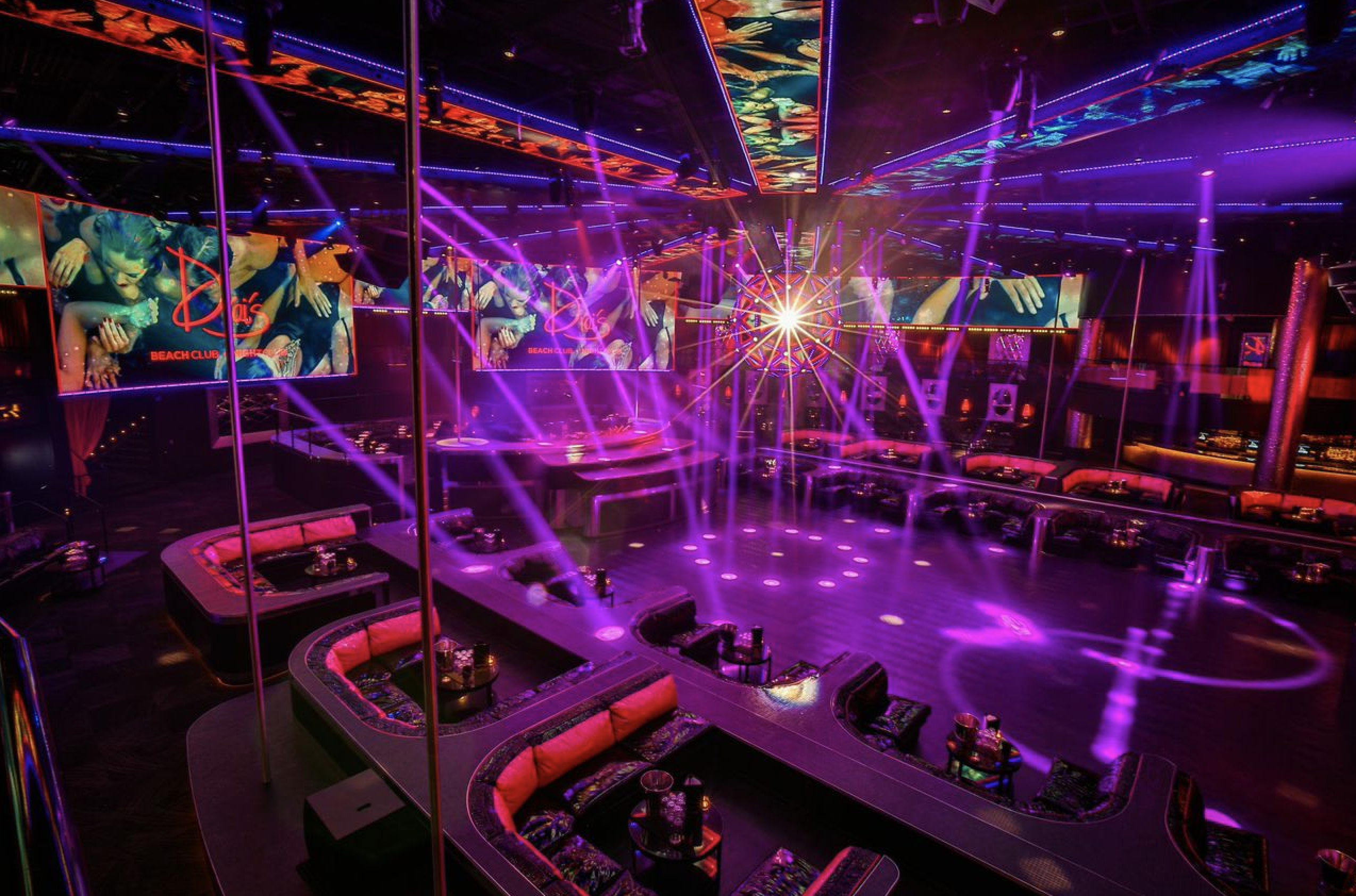 Drai's Nightclub Upper Dance Floor Table