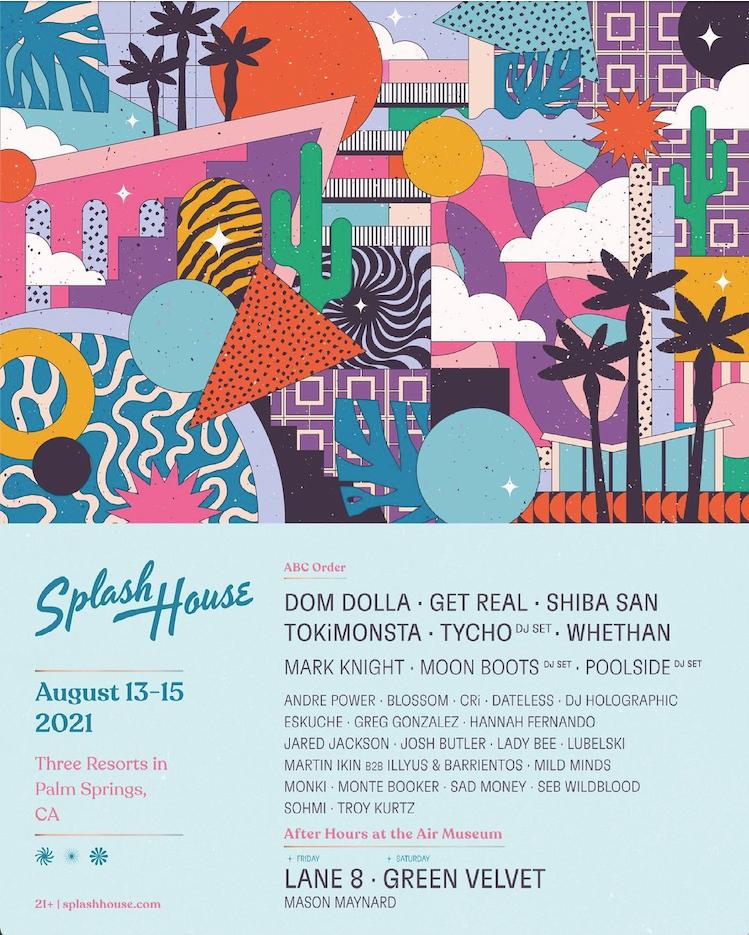 splash house 2021 weekend 1 lineup
